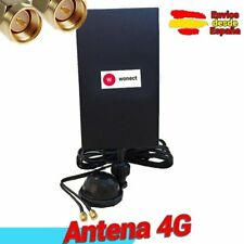 Antena 4G Wonect Panel 28dbi LTE Interior con Base Soporte Cable 3 metros SMA 3M