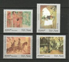 VIETNAM 2019 SILK PAINTINGS COMP. SET OF 4 STAMPS IN MINT MNH UNUSED CONDITION