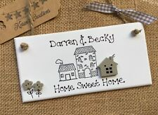 Personalised Home Sweet Family Name Plaque New House Warming Gift Sign Present