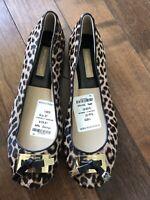 Michael Kors/The Leopard Print Haircalf/Women's Ballet Flat/Brand New/Size 7
