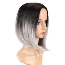 HELLOJF1478 sexy new design short black gray mix health hair Wig wigs for women