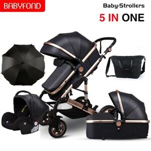 Baby Stroller 3 in 1 Luxury Carriages For Newborn Baby Can Sit Reclining Two-way