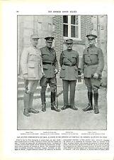 WWI Général Pétain Sir Douglas Haig Maréchal Foch General Pershing ILLUSTRATION