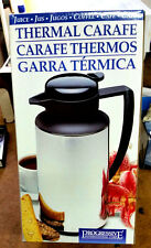 Progressive thermal 1 liter Carafe #TVF-15B NIB NOS