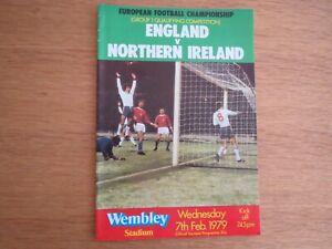 England V  Northern Ireland 1979