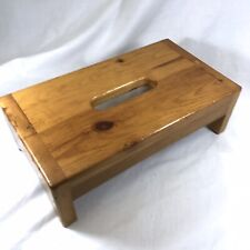 Vintage Handmade Solid Wood Wooden Tissue Box Cover