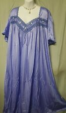 "Comfort Choice CALF PURPLE SHORT SLEEVE NIGHT GOWN PLUS SIZE 5X GIFT 74"" BUST"