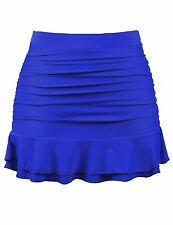 Firpearl Womens Ruched Swimsuit Bikini Tankini Bottom Ruffle Swim Skirt US16