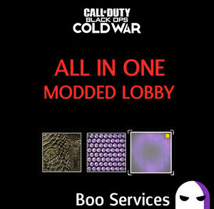 CALL OF DUTY COLD WAR - MODDED LOBBY BUNDLE - RANK, MAX GUNS, DARK AETHER!
