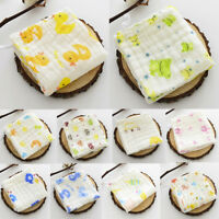 6 Layer Baby Bibs Cotton Soft Saliva Handkerchief Toddler Feeding Burp Towel US