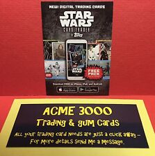 Topps Star Wars 40th Anniversary - DIGITAL Loot Trader Card - FREE Code Pack