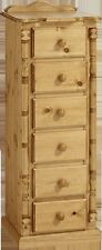 PINE FURNITURE SANDRINGHAM 6 DRAWER NARROW CHEST NO ASSEMBLY REQUIRED!!!