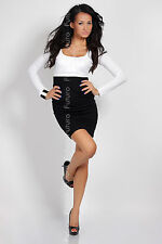 Women's Classic Cocktail Dress Bodycon Long Sleeve Tunic One Size 8-12 8439