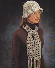 Crochet Pattern ~ LADIES BERKLEY HAT & SCARF SET ~ Instructions
