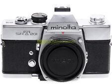Minolta SRT-201 reflex a pellicola con otturatore meccanico. Innesto Minolta MD.