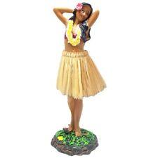 "Hawaiian Leilani Posing Brown Skirt Hula Girl Dashboard Doll 7"""