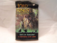 LORD OF THE RINGS CCG ENTS OF FANGORN SEALED BOOSTER PACK OF 11 CARDS