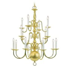 Livex Lighting Williamsburg Chandelier in Polished Brass - 5016-02