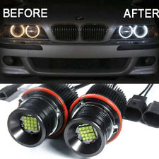 Front 80W LED Angel Eyes Ring Marker Bulbs Lamps Light For BMW E39 E60 E63 E53