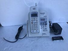 Panasonic KX TG2632W Cordless Phone Answering System WHITE 2.4 GHz