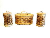 Holz Birkenrinde Brotbox Brotkasten Set Aufbewahrung Set Organikprodukt Handmade