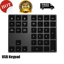 Wireless Bluetooth 34 Keys Numeric Keypad Number Pad Keyboard for Apple Mac US