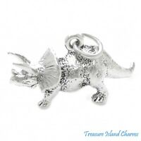 Genuine SOLID 925 STERLING SILVER 3D Cat Animal charmpendant