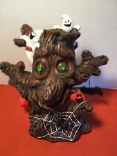 Halloween Decor Scary Gnarly Tree  ACTION Prop LIGHTS SOUNDS SHAKES Tested