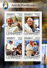 Mozambique 2016 MNH Year of Mercy Pope Francis Pope Benedict XVI 4v M/S Stamps