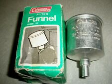VINTAGE COLEMAN NO. 0 FILTER FUNNEL 199B1111 W/ BOX