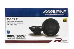 "Alpine R-S65.2 Car Audio Type R Speakers 6.5"" Coaxial 600W Speakers Pair Carbon"