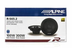 "Alpine R-S65.2 Car Audio Type R Speakers 6.5"" Coaxial 600W Speakers Pair Carbon"