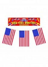 USA flag bunting- 11 flags- 12 feet in length- new condiiton