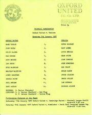 Chelsea Football Reserve Fixture Programmes (1970s)