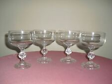 Bohemia Claudia Crystal Champagne / Wine Goblets / Glasses - Set of (4)