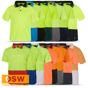 Adults Unisex Hi Vis Short Sleeve Traditional UNIFORMS Classic Polo Work Shirt
