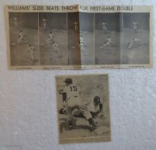 1950's/1960's Newspaper Clippings - BOSTON RED SOX, ETC. (14 photos)