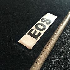 VW Volkswagen EOS Black Luxurious Car Mats Beige Leather Trim &Logo (Push&Click)