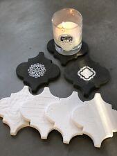 Sold 16 pcs molds PLASTER  concrete tiles Wall Tiles modern décor #W20
