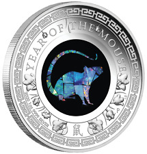 2020 Australia Opal Series Lunar Year of the Mouse 1oz Silver Proof $1 Coin