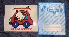 Vintage Hello Kitty Jumbo Sticker 70s Bug Car Surf 1976 Sanrio Decal Giant Big