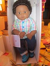 "American Girl BT BITTY TWIN DOLL 1B BOY DARK SKIN BLACK HAIR 15"" BABY GARDEN NEW"