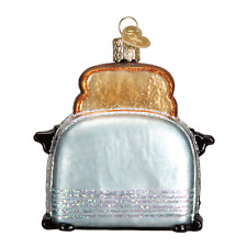 """Retro Toaster"" (32234) Old World Christmas Glass Ornament w/ OWC Box"