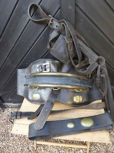 Antique Brewery Dray Horse Back pad harness parts with Brass Barrel -Leeds Maker