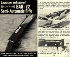 Browning BAR-22 Semi Automatic Rifle Manual