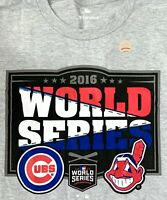 NOS World Series MLB T Shirt Cleveland Indians Chicago Cubs 2016 Baseball Tee XL
