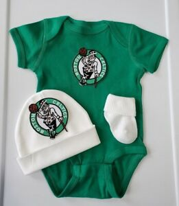 Celtics newborn/baby outfit Celtics baby gift Boston basketball baby clothes