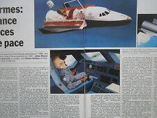 11/1985 ARTICLE 4 PAGES HERMES SPACEPLANE ESPACE SPACE CNES ESA DASSAULT