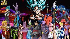 Poster 42x24 cm Dragon Ball Super Goku Super Saiyan God Blue Manga Anime 04