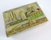 1933 1934 World's Fair Chicago Souvenir Playing Cards in Box